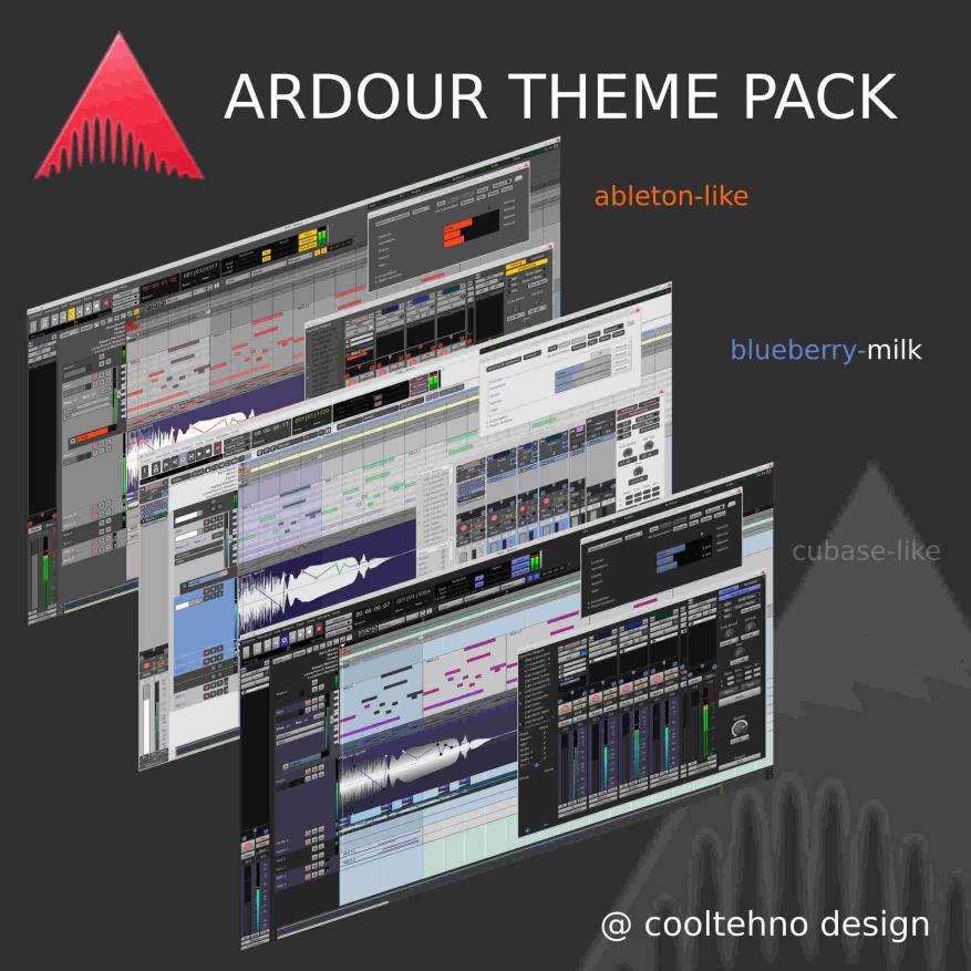 several ardour themes